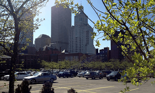 Hartford office tower owner Shelbourne Global Solutions plans shuttle loop for tenants as part of Allyn Street parking lot purchase